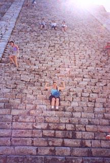 Ames descending El Castillo