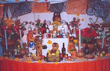 Offerings for Dia de los Muertos