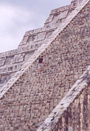Climbing El Castillo